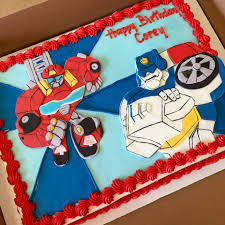 transformers rescue bots 1 edible cake or cupcake topper edible rescue bot cake featuring and heatwave transformercakes
