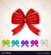 satin ribbon bows festive gift satin ribbon bows set royalty free vector image