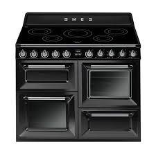 Smeg 110 Gloss Black Induction Buy Smeg 110cm Gloss Black Induction Range Cooker Tr4110ibl