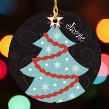 Custom Made Christmas Tree Decorations by Personalized Christmas Ornaments For Holidays Giftshappenhere