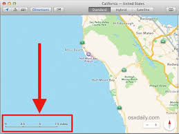 map scales a scale indicator in maps for mac os x