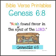 genesis 6 8 bible verse printables