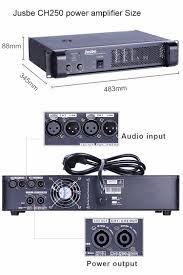 ch250 high efficient powerful dj power amplifier xlr balanced