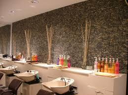 Stone Wall Tiles For Living Room Mixed Gray Standing Pebble Tile Teddie Kossof Salon Feature Wall