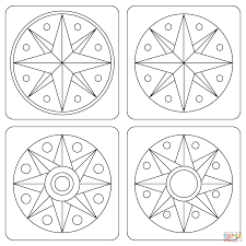 pennsylvania dutch hex signs coloring page free printable
