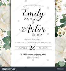 floral wedding invitation save date card stock vector 745148884