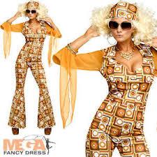 Disco Dancer Halloween Costume Disco Diva Ladies Fancy Dress Dance 1970s Funk Womens Adults