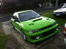 green subaru wrx 1997 subaru impreza wrx boostcruising
