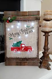 remodelaholic 9 cool wood projects november link party learn how to make a rustic burlap diy christmas sign leap of