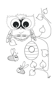 owl coloring pages kids drug free pictures awareness sheets