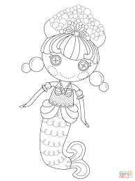 lalaloopsy bubbly mermaid coloring page free printable coloring