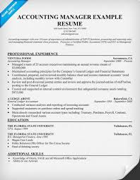 resume exles objective general purpose financial reports accounting manager resume sle resume sles across all