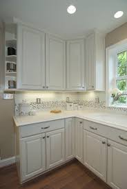 alluring white color merillat kitchen cabinets with gray color