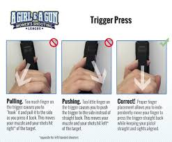 pistol trigger control and follow through a and a gun