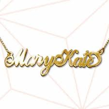 Sterling Silver Name Necklaces 18k Gold Plated Sterling Silver Name Necklace Carrie Two