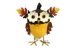 pier 1 owl acorn standing figurine metal fall harvest 2944708 new