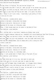 Pink Floyd Comfortably Numb Lyrics And Chords Love Song Lyrics For Pink Cadillac Bruce Springsteen With Chords