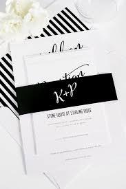 black and white wedding invitations modern calligraphy wedding invitations in black and white shine