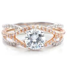 dazzling platinum and engagement ring and wedding band set