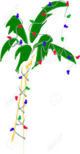 palm tree christmas tree lights holiday palm tree with lights royalty free cliparts vectors and