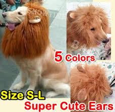 wigs for halloween pet costume lion mane wig dog cat halloween clothes fancy dress up