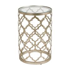 Quatrefoil Side Table Quatrefoil Moroccan Silver Accent Table