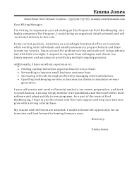 best tax preparer cover letter examples livecareer