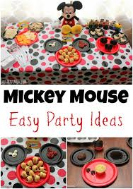 mickey mouse party ideas easy mickey mouse party ideas food activities