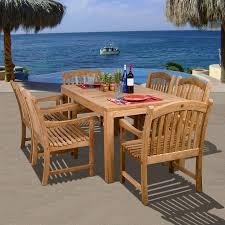 Patio 7 Piece Dining Set - shop international home amazonia oslo 7 piece teak patio dining