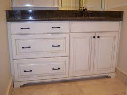 Bathroom Vanity With Makeup Station How To Distress White Bathroom Cabinets Memsaheb Distressed Vanity
