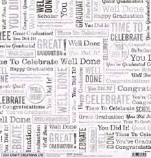 graduation 12 x 12 scrapbook paper by craft creations only 60p for