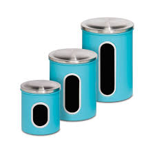 blue kitchen canister sets detrit us honey can do 3 piece kitchen canister set reviews wayfair