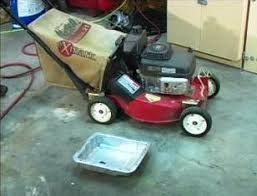 how to change lawn mower oil ereplacementparts com