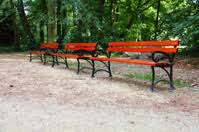 Benches In Park - old bench in a garden stock photos freeimages com