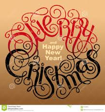 lettering merry and happy new year stock illustration