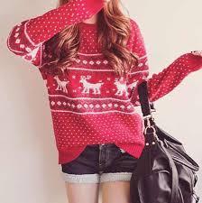 sweater sweater patterned sweater deer sweater deer