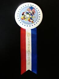 parade ribbon disneyland vintage america on parade button ribbon