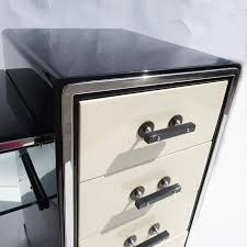 File Cabinet Seat Norman Bel Geddes Art Deco Vanity Dressing Table Seat And Mirror