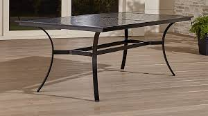 regent aluminum outdoor dining table crate and barrel