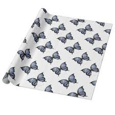 blue butterfly 6 small blue wrapping paper 16 15 by