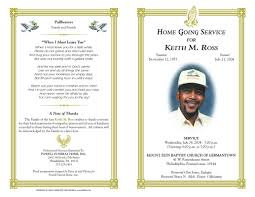 funeral programs template free funeral program templates funeral program sle order of