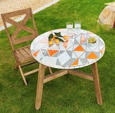West Elm Patio Furniture by Furniture Finds Mosaic Tiled Bistro Table From West Elm