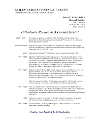 Resume Sle For Dental Assistant orthodontic assistant resume pertamini co
