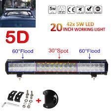 20 Led Light Bar by 20inch 210w 21000lm 5d Lens Flood Spot Combo Led Light Bar