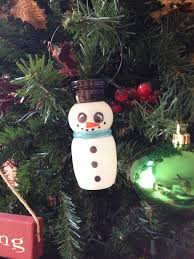 snowman ornament from danimals drinkable yogurt cup and permanent