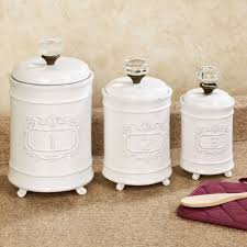 kitchen dihl 6 piece kitchen storage set bread bin with tea circa kitchen canisters white set of three white milk glazed ceramic vintage style glass doorknob handles