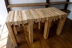 outdoor butcher block table table designs
