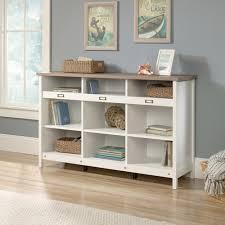 Sauder White Bookcase Sauder Adept Storage Credenza Soft White Walmart