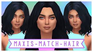cc hair for sism4 the sims 4 maxis match cc hair haul full cc list youtube
