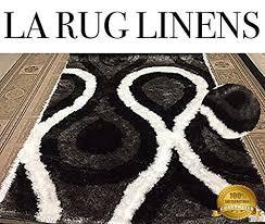 Cream Colored Shag Rug La Rug Linens Black Silver Gray Cream Color 8x10 Elegant 3d Luxurio